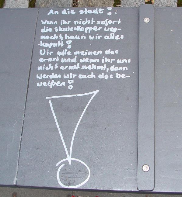 regensburg digital skatestopper entfernen