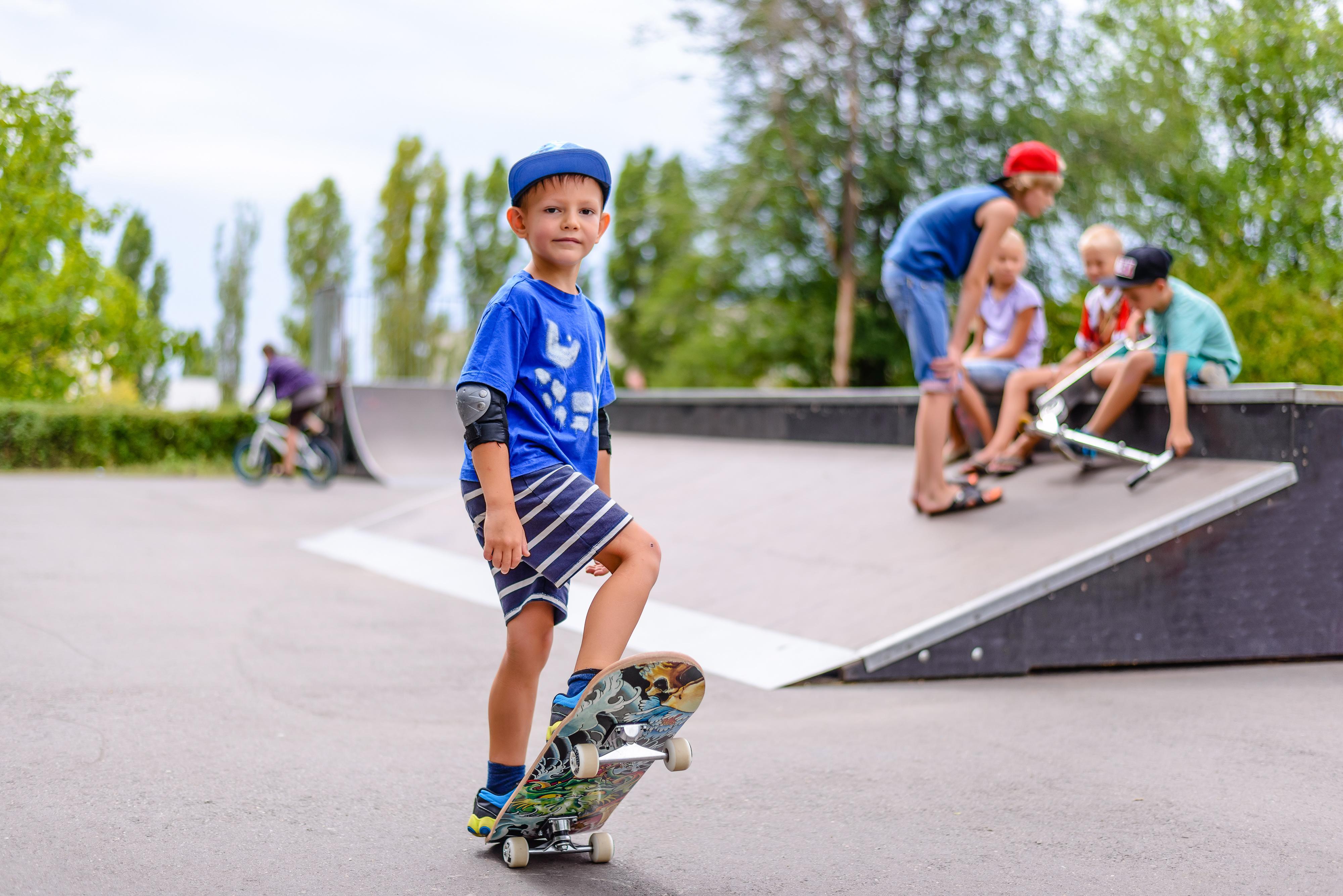 Übung mit dem Skateboard