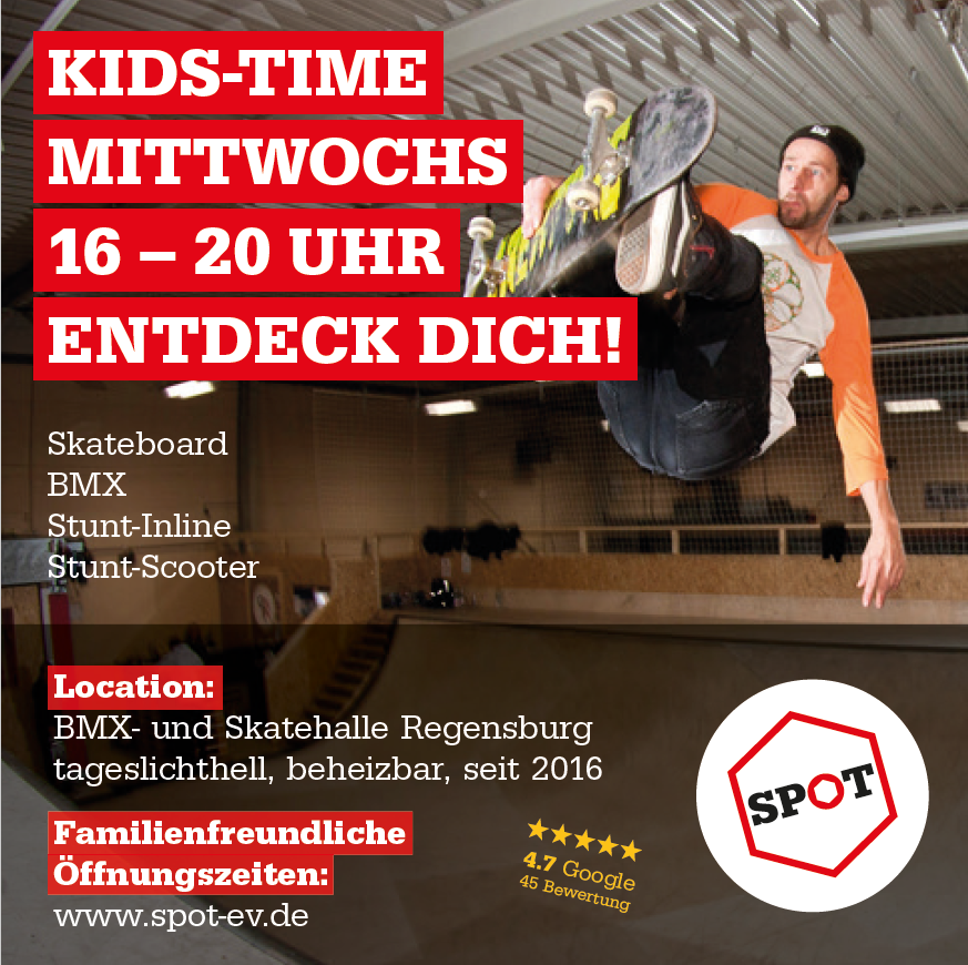 KIDS TIME mittwochs 16–20 Uhr - Entdeck' Dich!