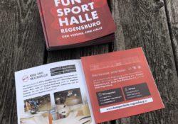 neuer Flyer für die Funsporthalle Regensburg